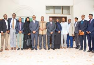 رئيس مجلس الشعب الفدرالي يلتقي مع وزير التخطيط للحكومة الصومالية